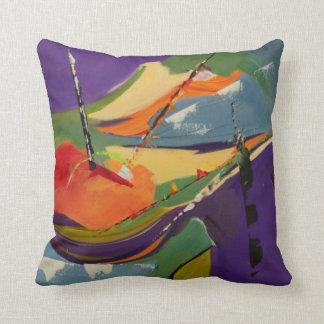 Cheerful Regatta Throw Pillow
