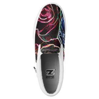 Cheerful Roses Slip-On Sneakers