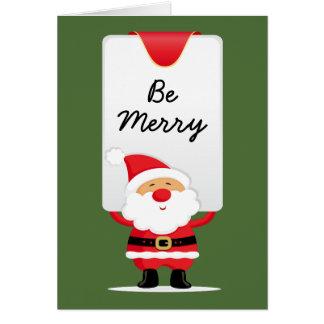 Cheerful Santa Personalized Christmas Card
