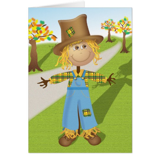 Cheerful Scarecrow Card