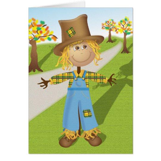 Cheerful Scarecrow Card