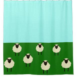Cheerful Sheep Shower Curtain