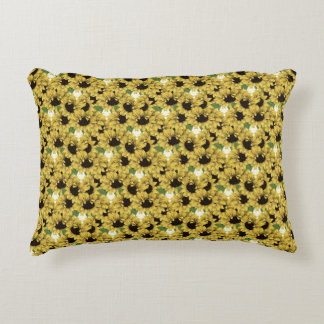 Cheerful Sunflowers Accent Pillow by mcful
