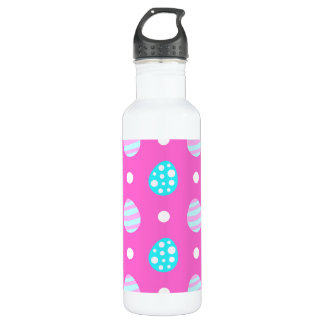 Cheerful sweet pink colorful easter eggs pattern 710 ml water bottle