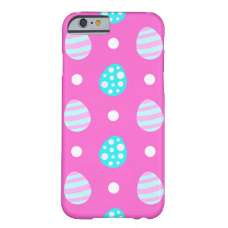 Cheerful sweet pink colorful easter eggs pattern barely there iPhone 6 case