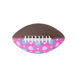 Cheerful sweet pink colorful easter eggs pattern football