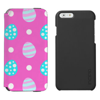 Cheerful sweet pink colorful easter eggs pattern incipio watson™ iPhone 6 wallet case