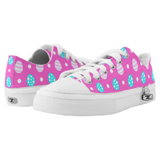 Cheerful sweet pink colorful easter eggs pattern Low-Top sneakers