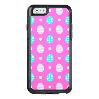 Cheerful sweet pink colorful easter eggs pattern OtterBox iPhone 6/6s case