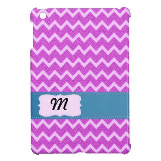 Cheerful Trendy pink animal print chevron iPad Mini Covers