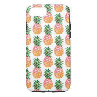 Cheerful Tropical Hawaiian Pineapple Pattern iPhone 8/7 Case