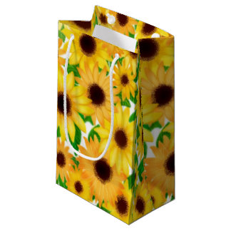 Cheerful Yellow Sunflowers Gift Bag