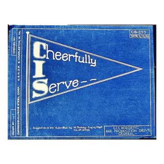 Cheerfully I Serve Personalized Invites