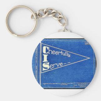 Cheerfully I Serve Key Chain
