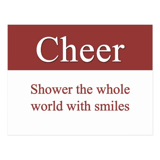 Cheerfully shower the world with smiles post cards
