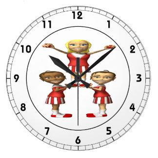 Cheering Pyramid Wall Clocks