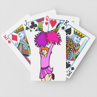 Cheerleader Bicycle Playing Cards