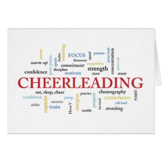 Cheerleader Birthday with Words Card