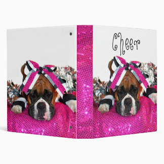 Cheerleader Boxer Dog binder