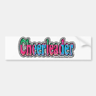 Cheerleader Bumper Sticker