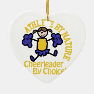 Cheerleader By Choice Ceramic Heart Ornament