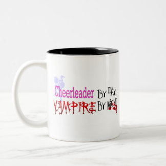 Cheerleader by day, Vampire by Night Two-Tone Coffee Mug