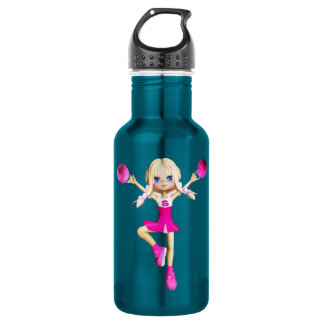 Cheerleader cartoon 532 ml water bottle