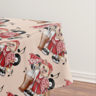 "CHEERLEADER CAT BOY Tablecloth COLOR LIPS 60""x104"""