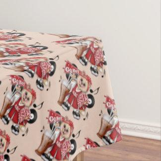 "CHEERLEADER CAT BOY Tablecloth COLOR LIPS 60""x84"""