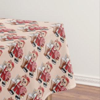 "CHEERLEADER CAT GIRL Tablecloth 52""x70"""