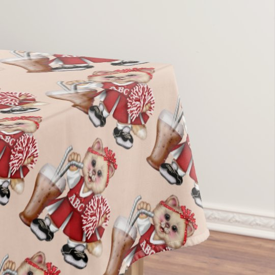 "CHEERLEADER CAT GIRL Tablecloth  60""x104"
