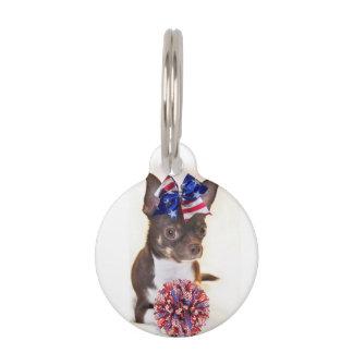 Cheerleader Chihuahua dog Pet ID Tags