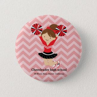 Cheerleader, choose your own background color 2 inch round button