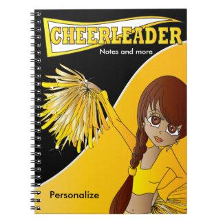 Cheerleader   DIY Name   Yellow Notebook