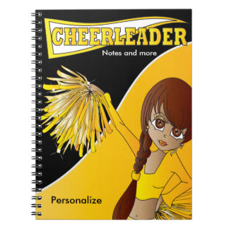 Cheerleader | DIY Name | Yellow Spiral Notebook