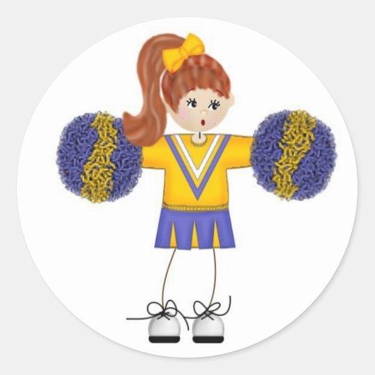 Cheerleader Doodle Stickers