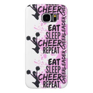 Cheerleader EAT SLEEP CHEER REPEAT Samsung Galaxy S6 Cases