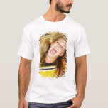 Cheerleader flipping hair, laughing, surrounded T-Shirt