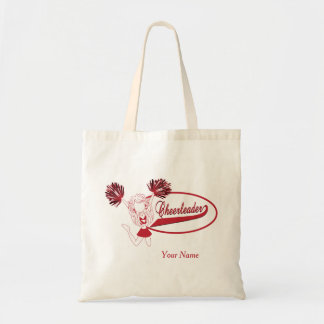 Cheerleader Girl in Dark Red Silhouette Tote Bag