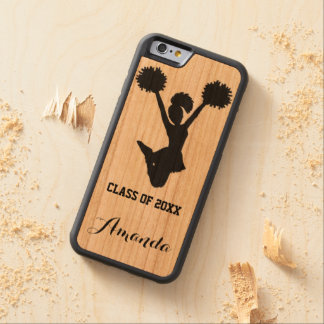 Cheerleader Graduating Class Custom Name Carved Cherry iPhone 6 Bumper Case
