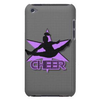 Cheerleader in purple iPod touch case