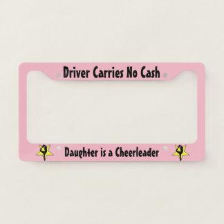 Cheerleader license plate holder license plate frame