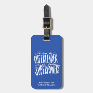 Cheerleader Luggage Tag - Personalized