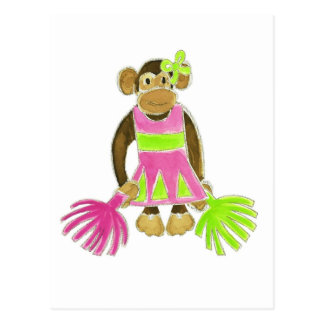 Cheerleader Monkey Postcard