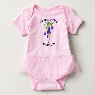 cheerleader monster baby bodysuit