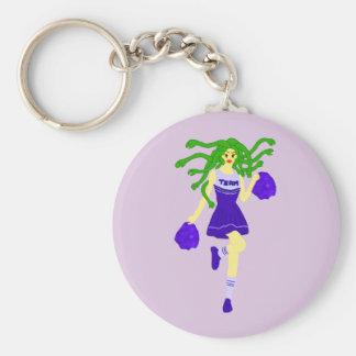 cheerleader monster keychain