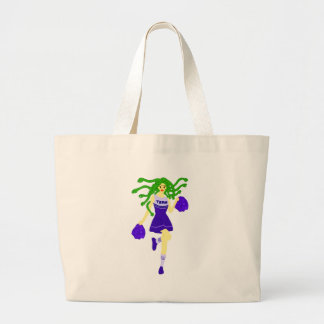 cheerleader monster large tote bag