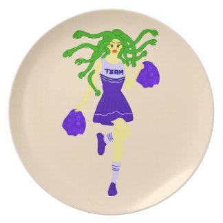 cheerleader monster plate