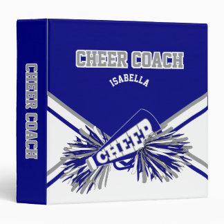 Cheerleader - Navy Blue, White & Gray 3 Ring Binders