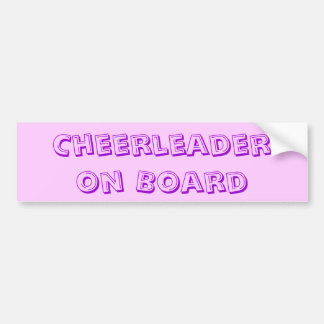 Cheerleader on Board bumper sticker